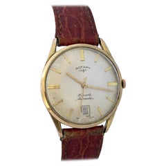 Vintage 1960s Gold-Plated Rotary 21 Jewels Automatic Watch