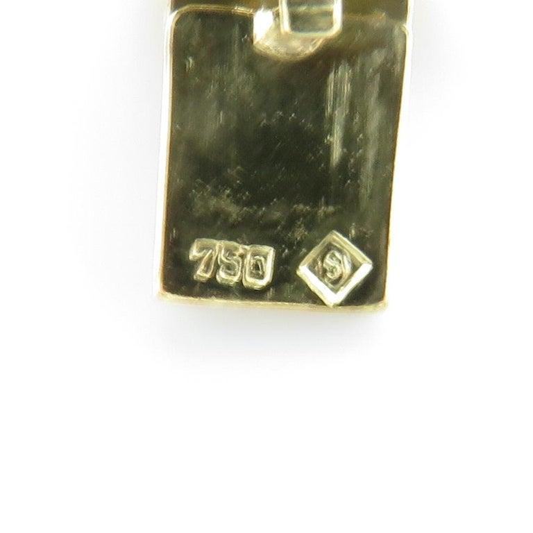 Vintage 1960s H. Stern Heavy 18 Karat Emerald Aquamarine Gemstone Cuff Bracelet For Sale 1