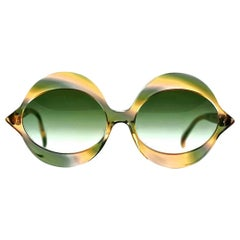 "Vintage 1960s Iconic PIERRE CARDIN ""KISS"" Camouflage Sunglasses"