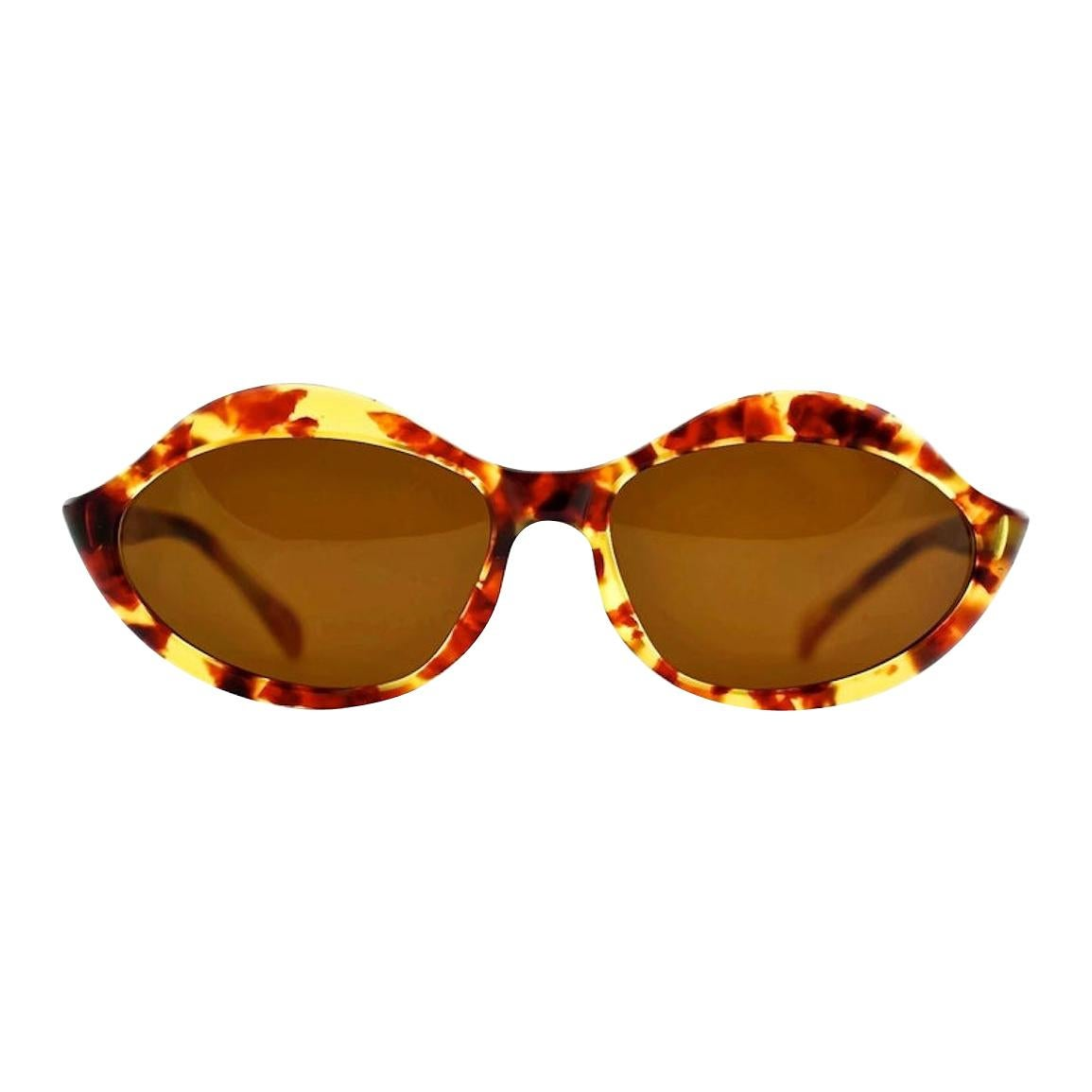 "Vintage 1960s Iconic PIERRE CARDIN ""LIPS"" Light Tortoise Sunglasses"