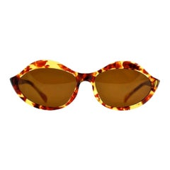 "Vintage 1960s Iconic PIERRE CARDIN ""LIPS"" Light Tortoise Sunglasses"