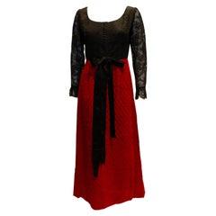 Vintage 1960s Irving Ross Evening Dress