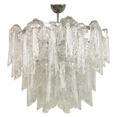 Vintage 1960s Italian Murano Glass Chandelier