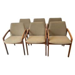 Vintage 1960s Kai Kristiansen Set of Six Teak Dining Chairs