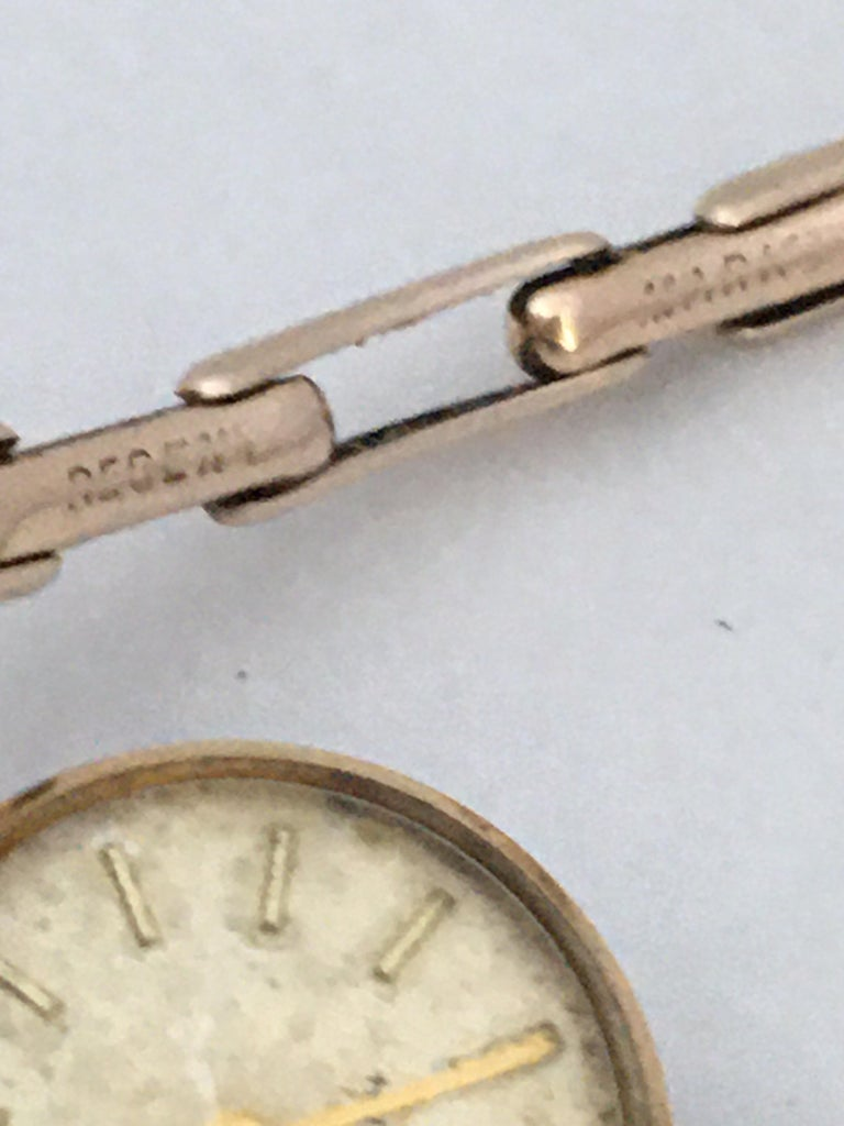 Vintage 1960s Ladies Gold-Filled Mechanical Watch For Sale 7