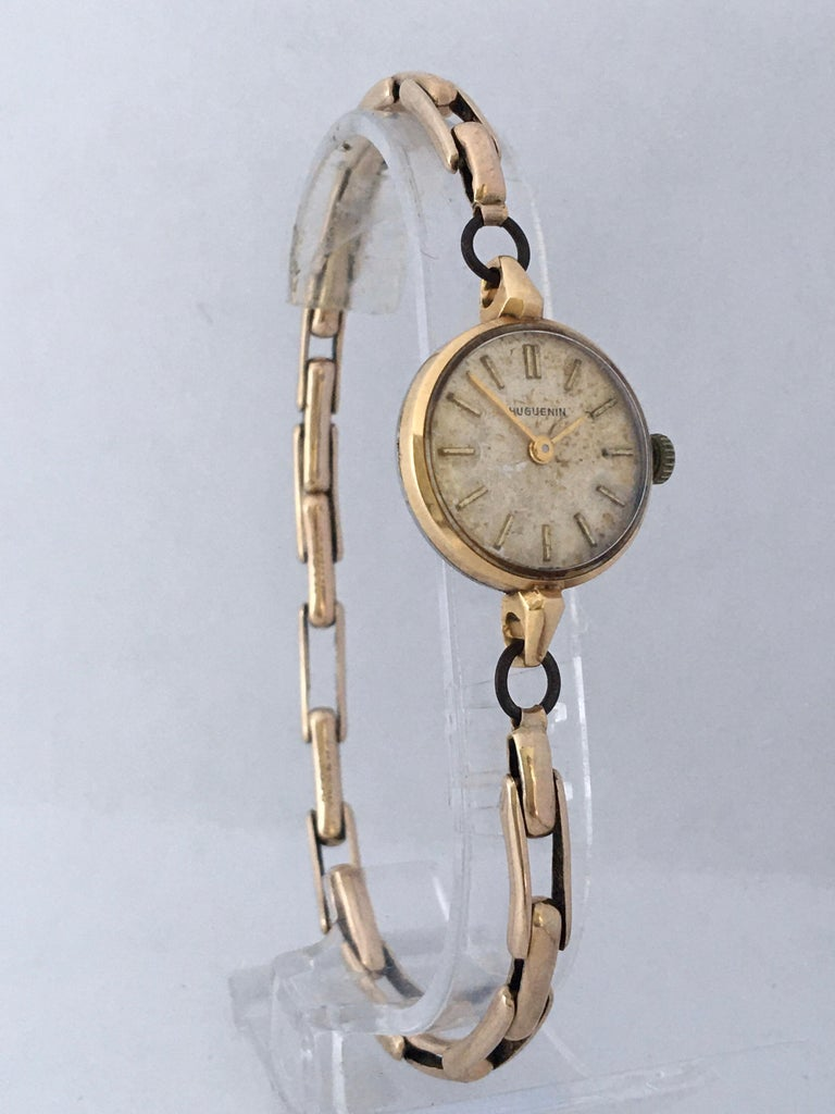 Vintage 1960s Ladies Gold-Filled Mechanical Watch For Sale 9