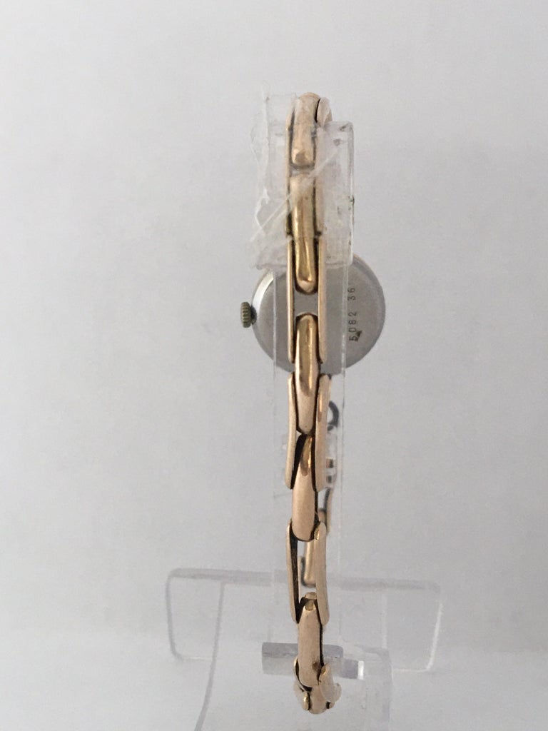 Vintage 1960s Ladies Gold-Filled Mechanical Watch For Sale 2