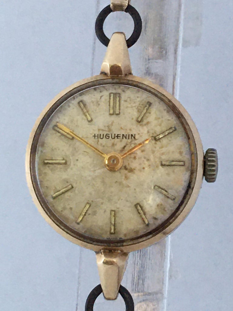 Vintage 1960s Ladies Gold-Filled Mechanical Watch For Sale 3