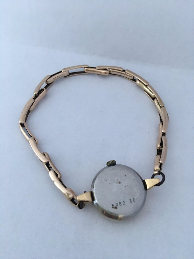 Vintage 1960s Ladies Gold-Filled Mechanical Watch For Sale 5
