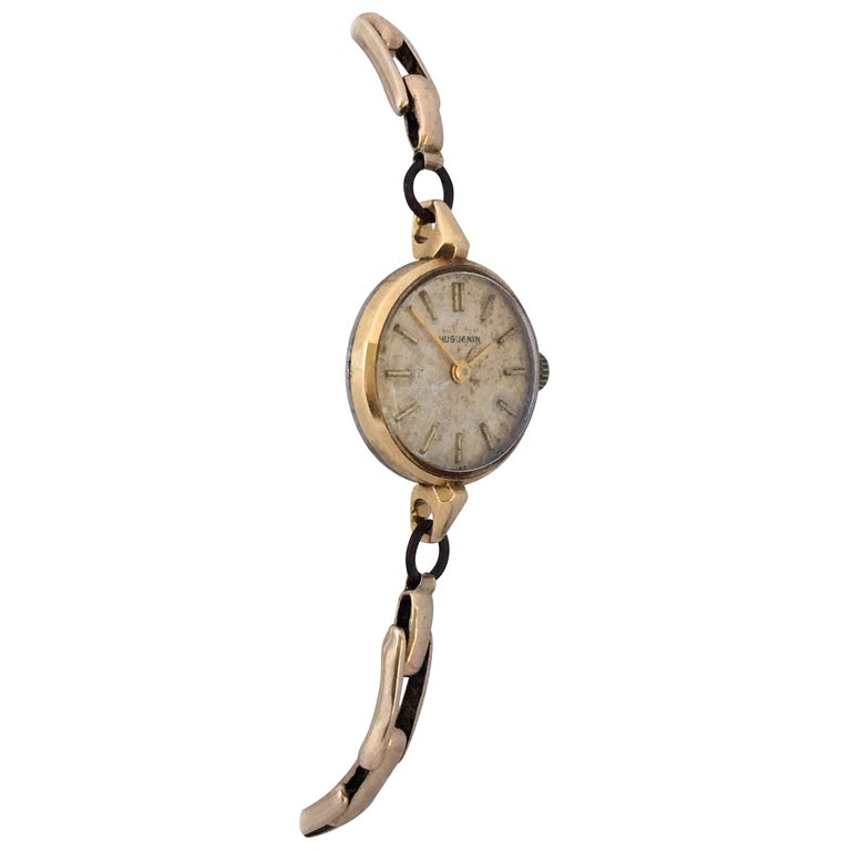 Vintage 1960s Ladies Gold-Filled Mechanical Watch For Sale