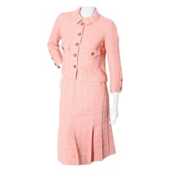 Vintage 1960's Lifetime Chanel Pleated Skirt Suit