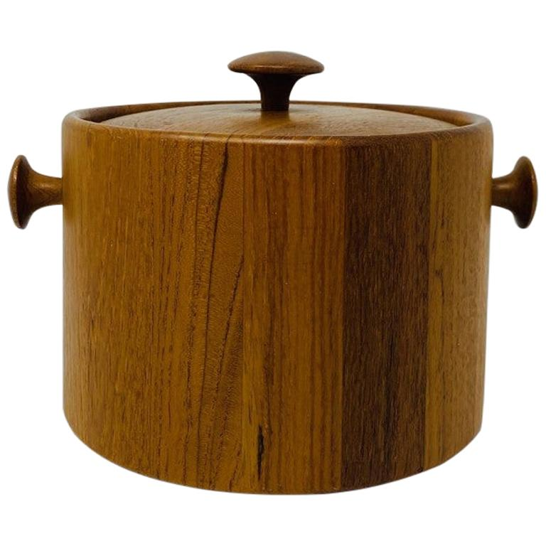 Vintage Danish 1960s Midcentury Digsmed Teak Ice Bucket