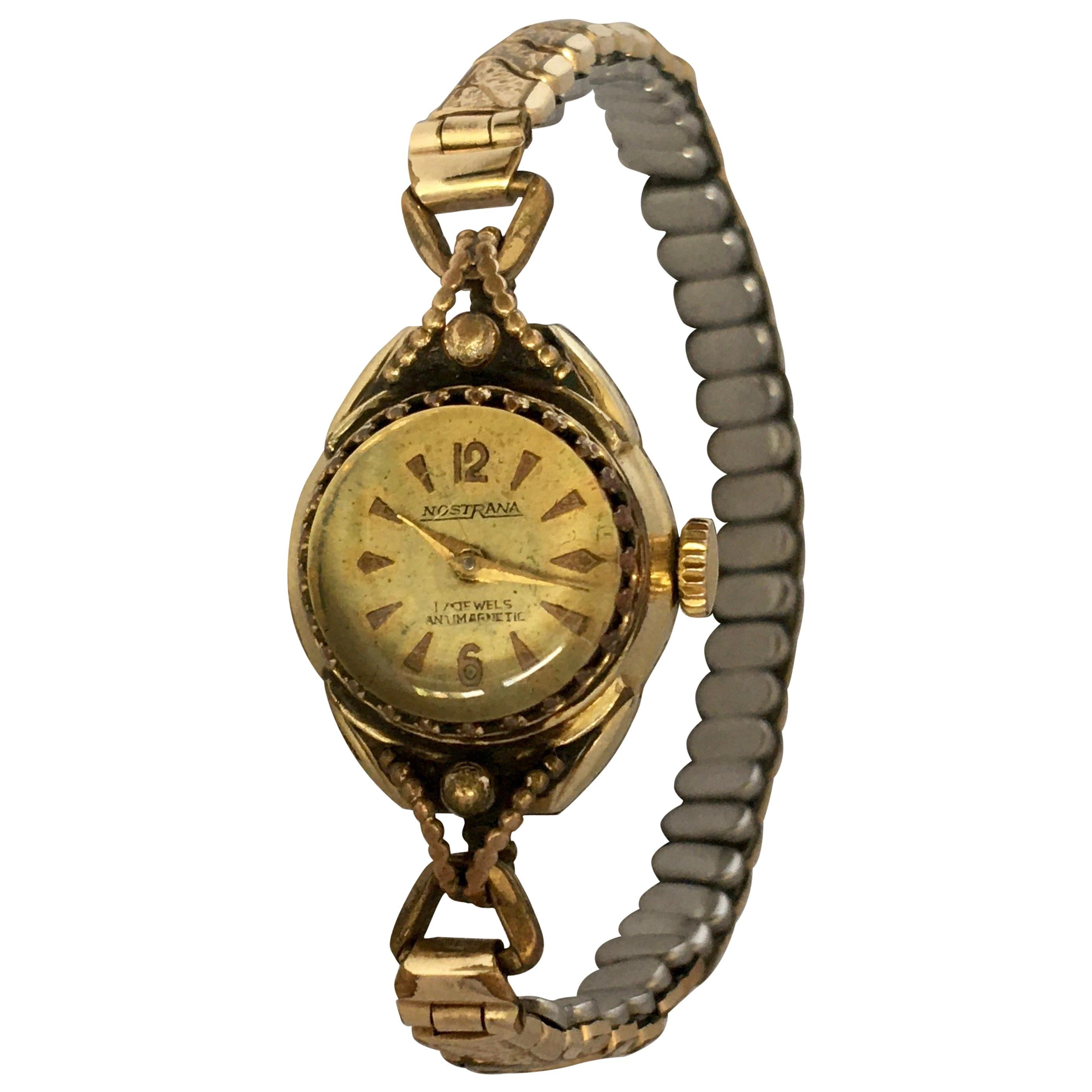 Vintage 1960s Rolled Gold Ladies Mechanical Watch