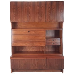 Vintage 1960s Rosewood Wall Unit by Robert Heritage for Archie Shine