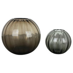Vintage 1960s Set of 2 Ball Vases Turmaline by Wilhelm Wagenfeld for WMF Germany