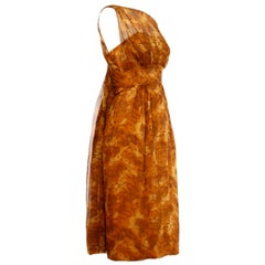 Vintage 1960s Silk Chiffon Cocktail Dress