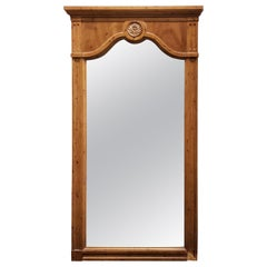 Vintage 1960s Solid Walnut Framed Wall Mirror