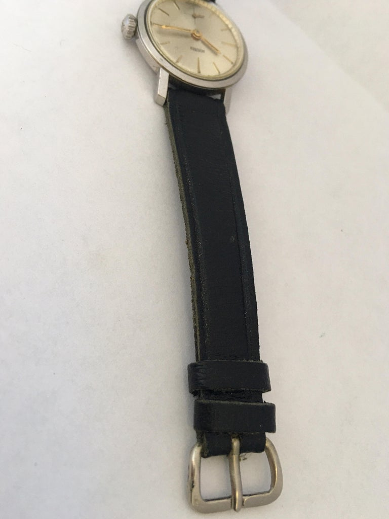 Vintage 1960s Stainless Steel Roamer Mechanical Ladies Watch For Sale 2