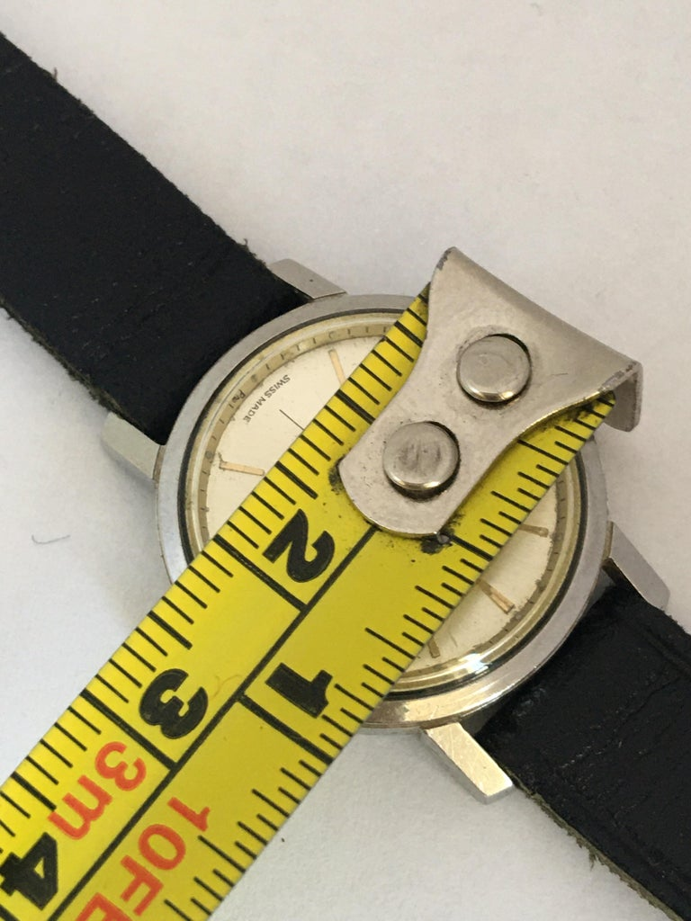 Vintage 1960s Stainless Steel Roamer Mechanical Ladies Watch For Sale 4