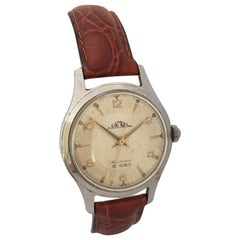 Vintage 1960s Stainless Steel with Sweep Seconds Mechanical Watch