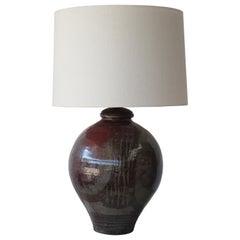 Vintage 1960s Studio Pottery Lamp