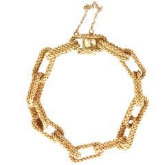 Vintage 1960s Tiffany & Co. 18 Karat Gold Chain Link Bracelet