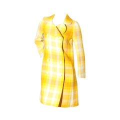 Vintage 1960's Ungaro Yellow Plaid Jacket