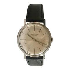 Vintage 1960s Universal Genève Stainless Steel Watch