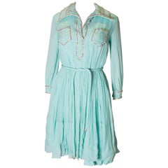 Vintage   1960s Victoria Royal Couture Cocktail Dress