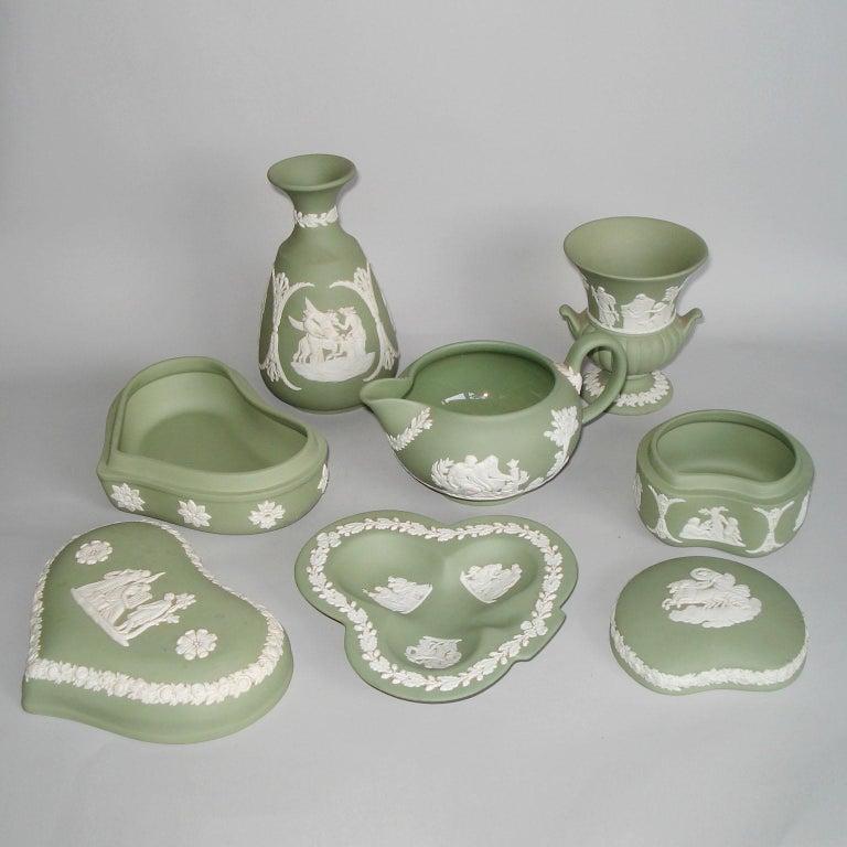 Vintage 1960s Wedgwood Jasperware Cream on Celadon Collection 1