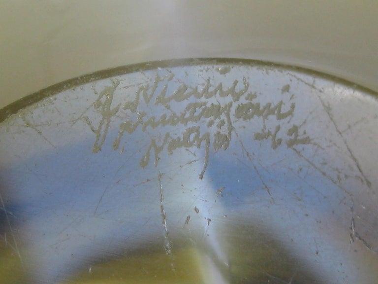 Vintage 1962 Jaakko Niemi for Nuutajarvi Finnish Art Glass Freeform Bowl Finland For Sale 9