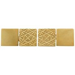 Vintage 1964 Hallmarked Cufflinks in Yellow Gold