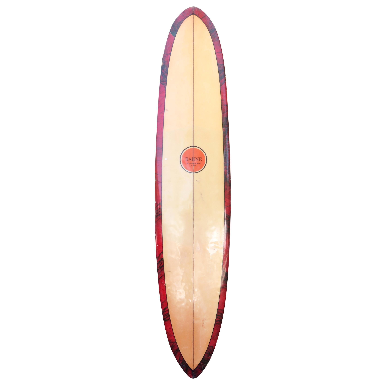 Vintage 1968 Bahne La Jolla Longboard Surfboard