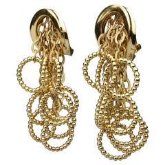 Vintage 1969 CHRISTIAN DIOR Cascading Hoop Dangling Earrings