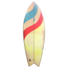 Vintage 1970s Agua Surfboards Twin Fin by Rod Sorenson