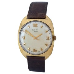 Vintage 1970s AU20 Gold-Plated POLJOT Mechanical Watch