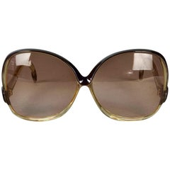 Vintage 1970s BALENCIAGA Oversized Two Tone Sunglasses