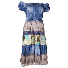 Vintage 1970s  Boho Spring /Summer Dress