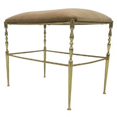 Vintage 1970s Brass Dressing Table Stool