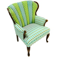 Vintage 1970s Channel Back Chair