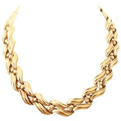 Vintage 1970s Chaumet 18 Karat Gold Necklace
