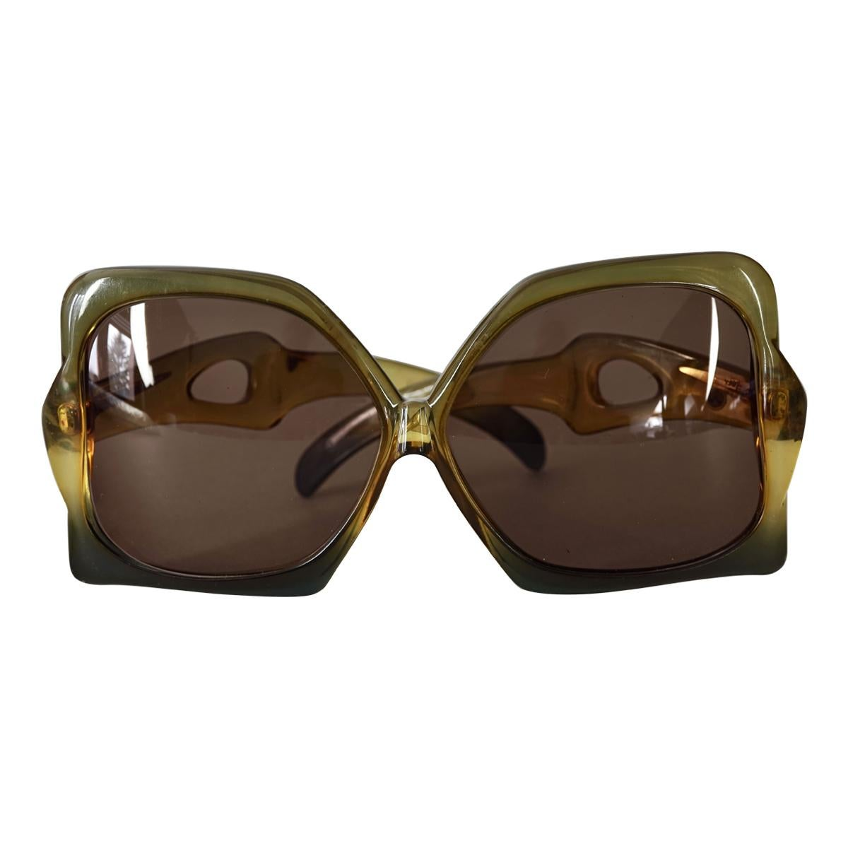 Vintage 1970s CHRISTIAN DIOR Oversized Butterfly Space Age Sunglasses