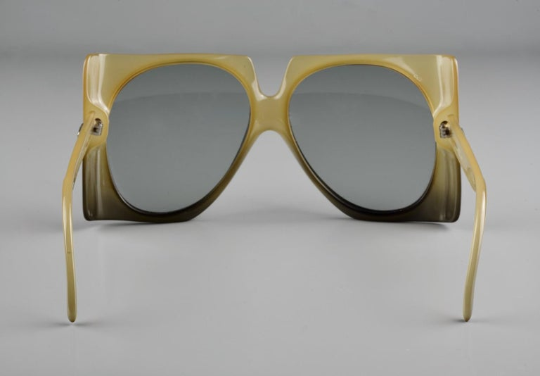 Vintage 1970s CHRISTIAN DIOR Oversized Square Space Age Sunglasses For Sale 3