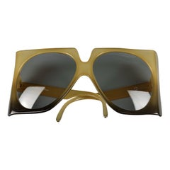 Vintage 1970s CHRISTIAN DIOR Oversized Square Space Age Sunglasses