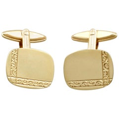 Vintage 1970s Cufflinks in Yellow Gold