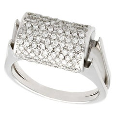Vintage 1970s Diamond and White Gold Dress Ring