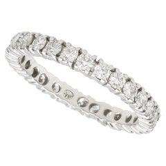 Vintage 1970s Diamond and White Gold Full Eternity Ring