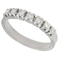 Vintage 1970s Diamond and White Gold Half Eternity Ring