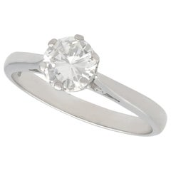 Vintage 1970s Diamond and White Gold Solitaire Engagement Ring