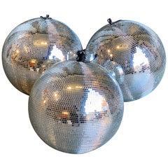 Vintage 1970s Disco Glitter Globes